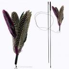 Spielangel schwarze Federn - 195cm